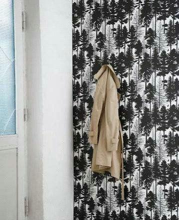 酷炫黑白壁纸 演绎时尚简约家居