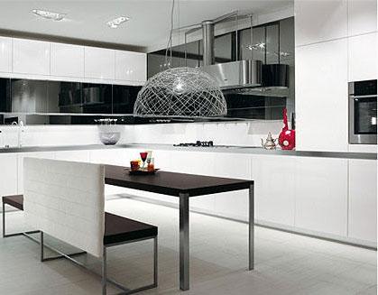 9款现代简约整体橱柜 演绎厨房经典黑白印象
